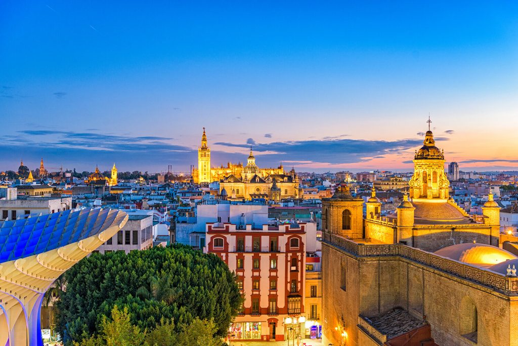 Panoramica de Sevilla desde la plaza de la encarnación