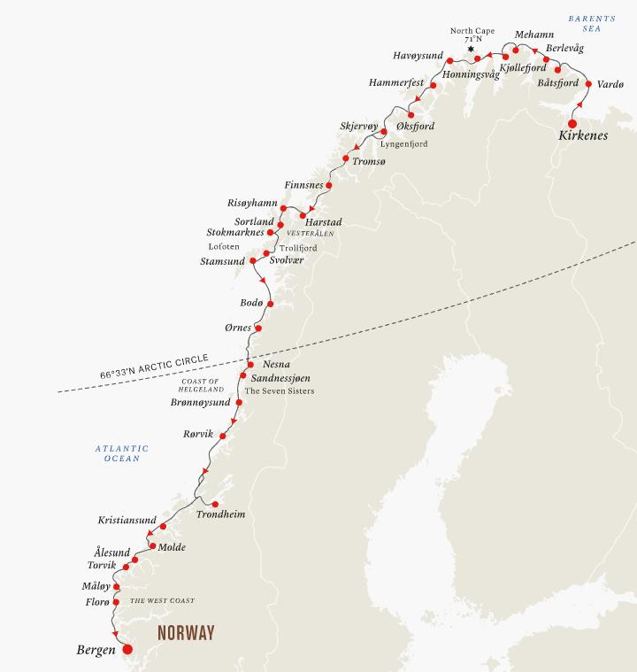 Hurtigruten crucero por los fiordos noruegos verano 2020 un mundo de cruceros