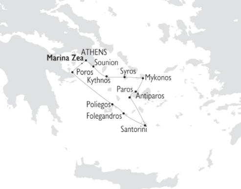 itinerario variety cruises para verano 2020 por islas griegas