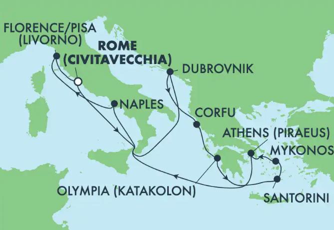Todos los cruceros para navegar en Verano 2021