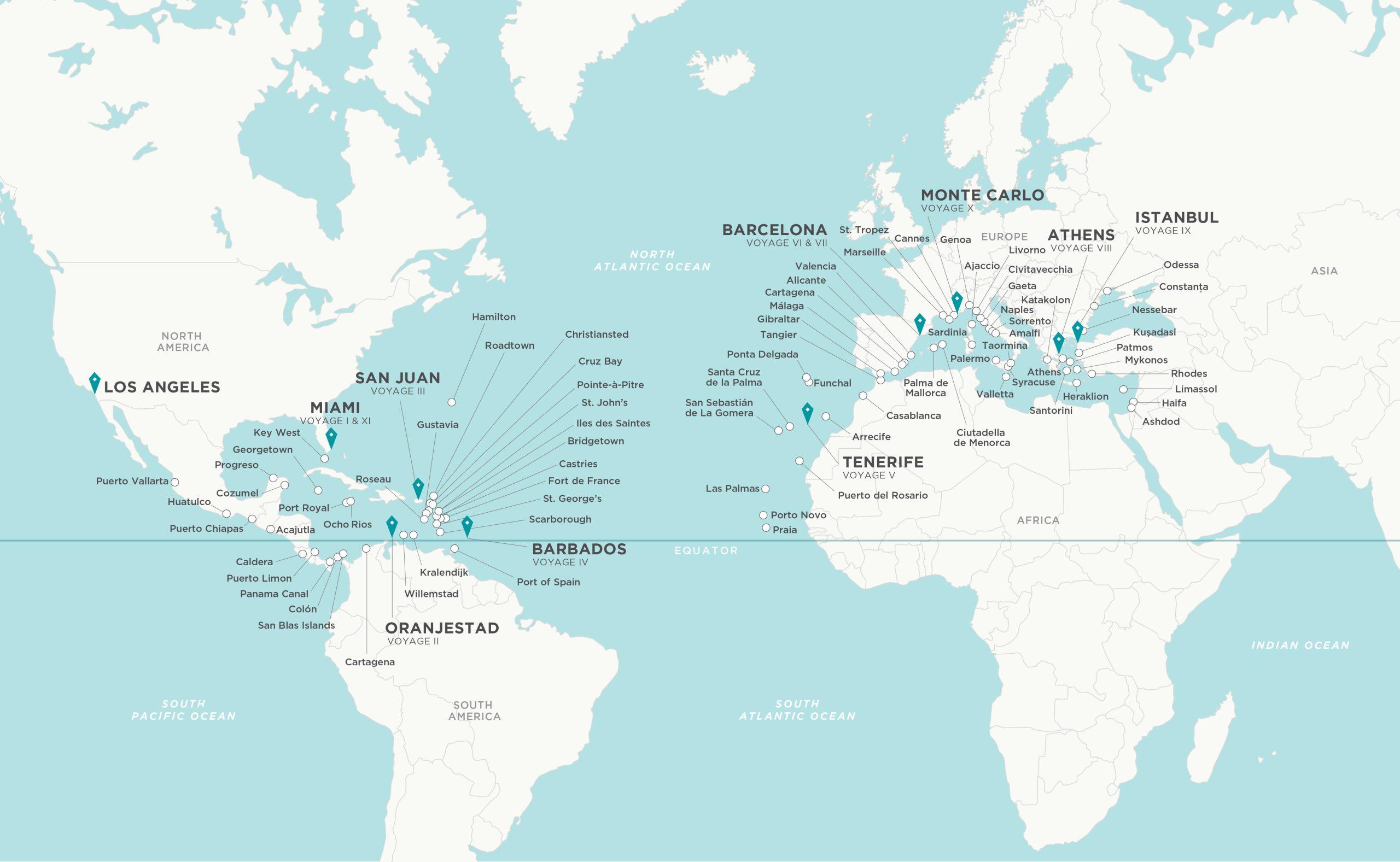 Mapa Grand Voyage